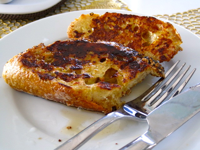 Quick, Easy & French! French toast made with semolina sourdough and fennel