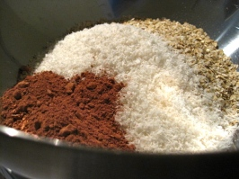 Mixing the dry ingredients together